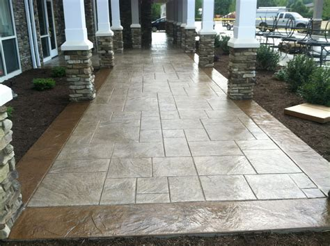 sted concrete patterns patio traditional with ashlar