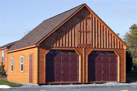 amish built log cabin garages hudson valley  york state