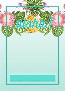 Hawaiian Party Invitations Printable