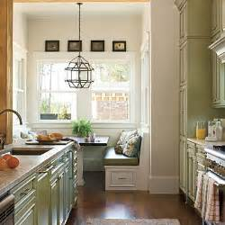 southern living kitchens ideas built in banquette in kitchen
