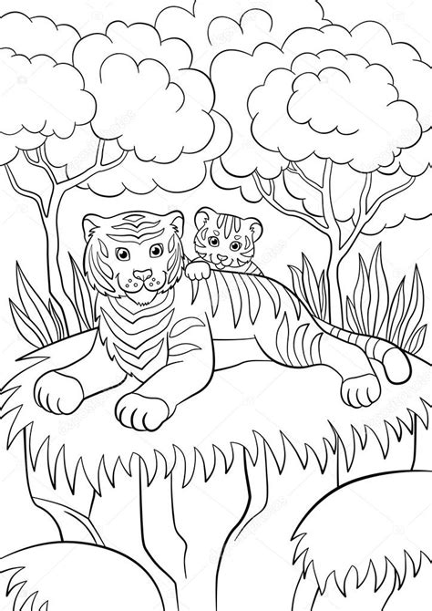 pictures animals smiling coloring pages wild animals