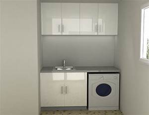 Lacquer Laundry Cabinet Glass Tile Floor Glossy White
