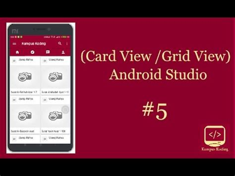 android studio tutorial material design grid list