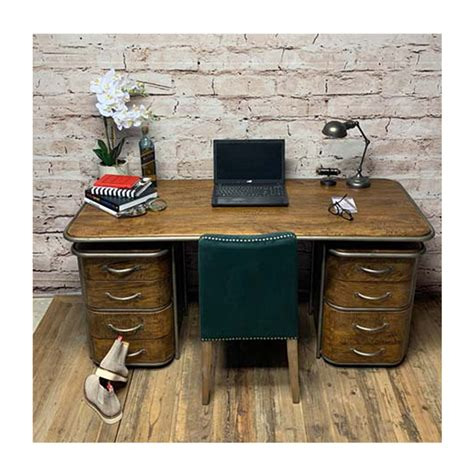 The black metal frame contrast the dark wood tone perfectly and make this piece truly unique. FRENCH ART DECO DESK - RUSTIC - Urbano Interiors