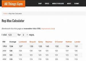Rep Max Calculator