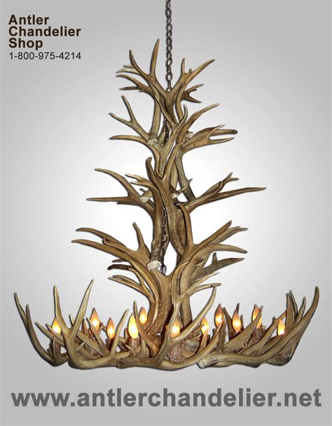 Antler Chandelier Shop by Real Antler Grand Spruce Mule Deer Chandelier 12 Lights