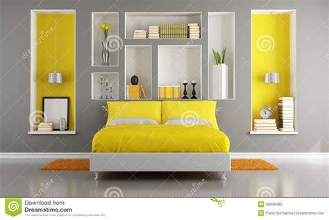 chambre a coucher grise chambre à coucher moderne jaune et grise