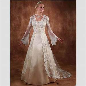 vintage beige satin wedding dresses with sleeves 2015 With beige lace wedding dress