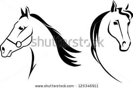 arabian horse head clipart clipart panda  clipart