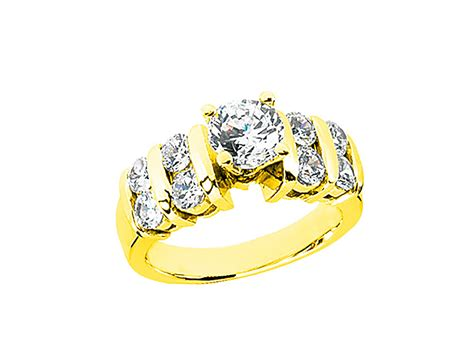 1.4ct Round Diamond 2row Open Gallery Engagement Ring 10k