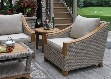 teak ash wicker sofa  weather resistant sunbrella fabric