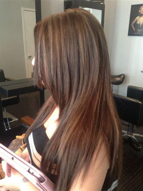 brunette  caramel highlights west palm beach hair