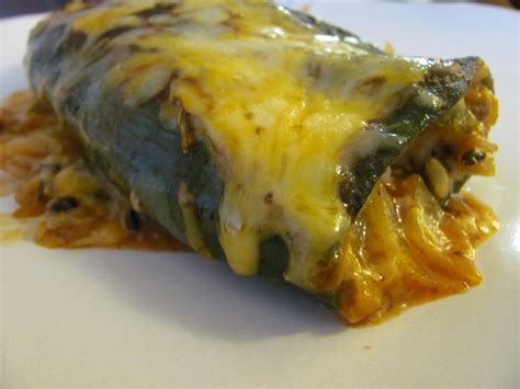 chili rellenos baked chile rellenos with corn and crema recipe dishmaps