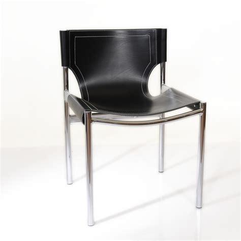 leather sling dining chairs