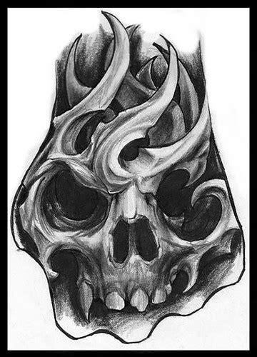 "bio mechanic skull, ""hand tattoo sketch""   Jorge A gWooKi"