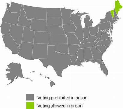 Disenfranchisement States United Felony Laws State Map