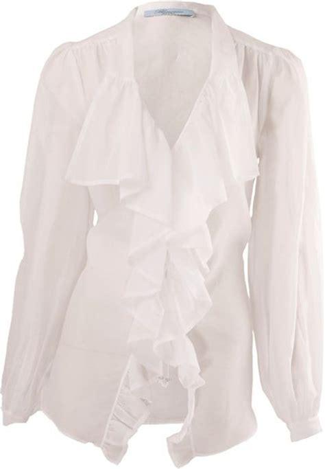 ruffled white blouse white ruffle blouse sleeve black blouse