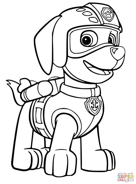 Paw Patrol Zuma Coloring Pages 01 Coloring Pages