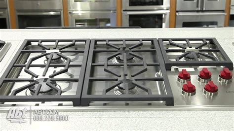 wolf professional   gas cooktop cgp overview