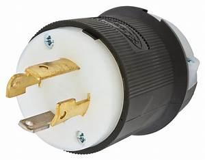 Hubbell Hbl2711 Twist Lock Plug  30 Amp  125  250 Volt  L14