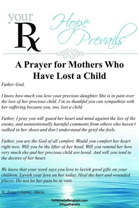 encouraging words  mothers   lost  child