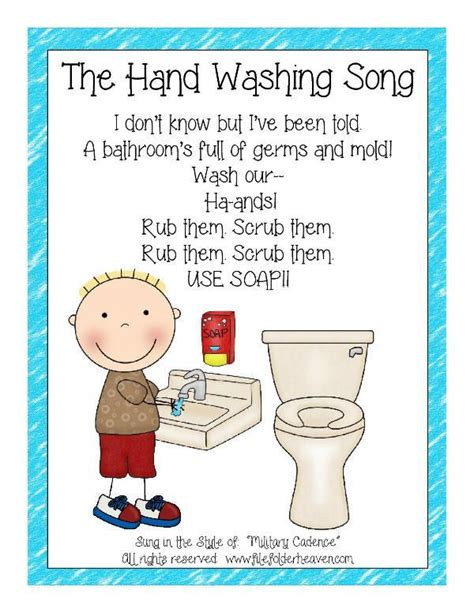 the washing song classroom poster elementary 208 | 6e58e4bcfa02bdd5441ba6fbc74ee74d classroom helpers preschool classroom