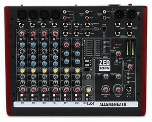 Allen Heath ZED 10FX Mixer With USB And Effects Sweetwater