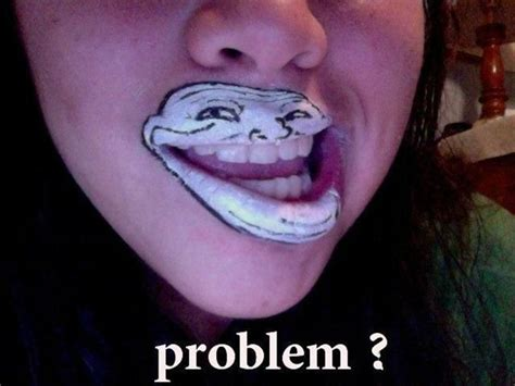 Troll Face Meme Mask - trollface tacky raccoons