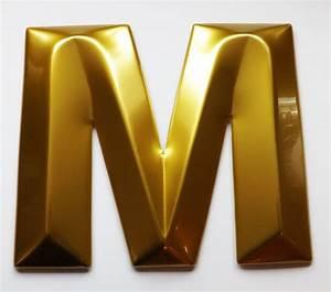 letter m gold moulded 3d letters pinterest With gold letter m