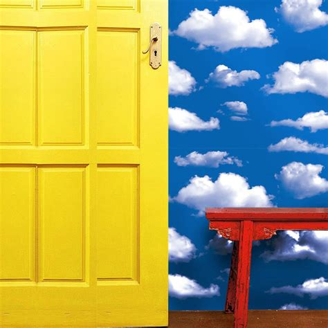 diy  blue sky white clouds pvc wall paper    cm