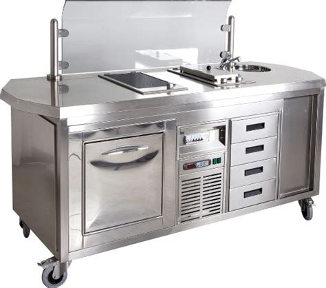 cuisine professionnelle mobile mobiel elektrisch kookeiland