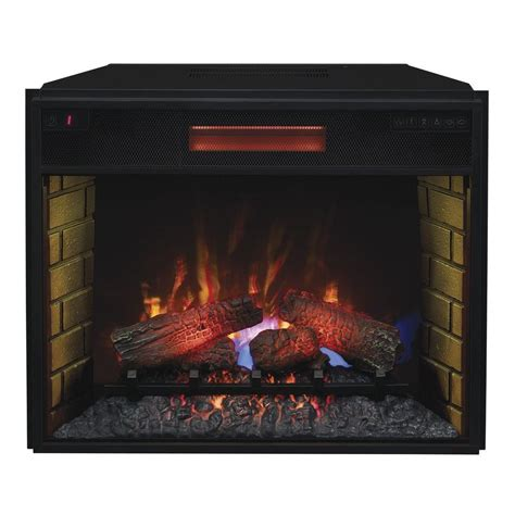 electric fireplace insert 28 in infrared quartz electric fireplace insert with
