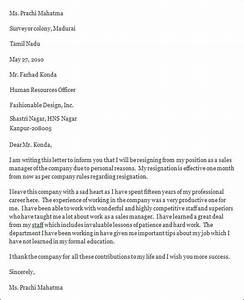 5+ Professional Resignation Letter – PDF, DOC Sample Templates