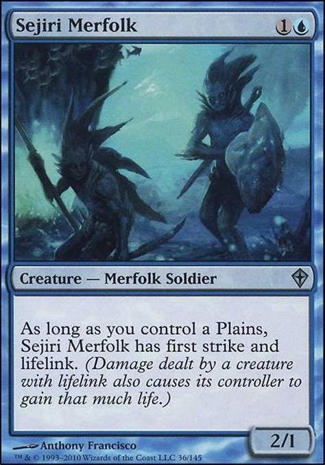 Mtg Merfolk Deck Tapped Out by Sejiri Merfolk Wwk Mtg Card
