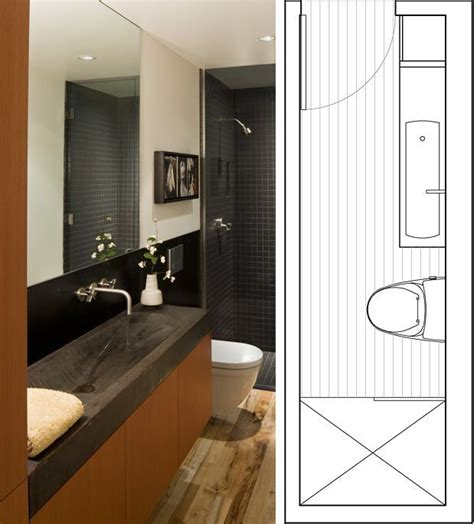 Small Bathroom Layout Ideas by Small Bathroom Floor Plans Designs Narrow Bathroom Layout