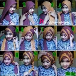 tutorial hijab segi empat  warna  wisuda  lebaran jilbab tutorial hijab