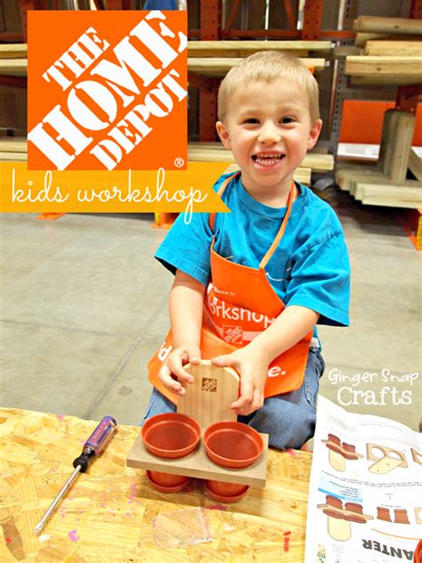 Ginger Snap Crafts The Home Depot Kids Workshop {build