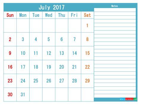 july  printable calendar templates   image