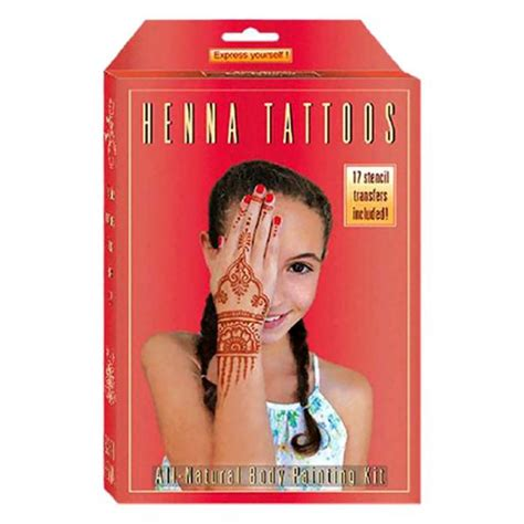 kids henna body painting kit childrens tattoo designs