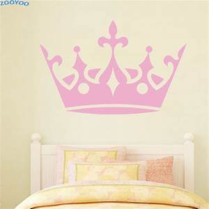 zooyoo large crown wall sticker home decor princess wall With amazing room decor ideas with crown decals for walls