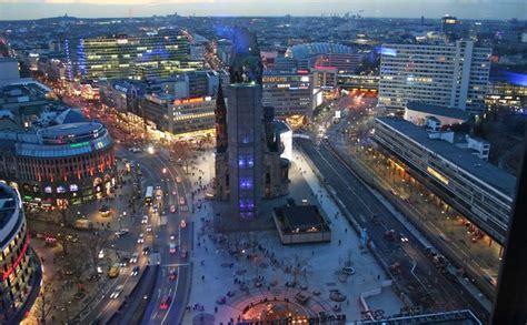 kurfuerstendamm west berlins  famous avenue lit