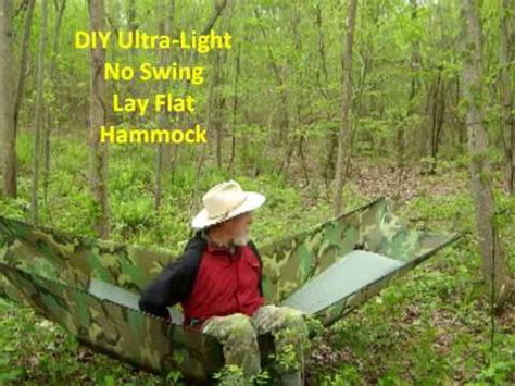 Lay Flat Hammock by Diy Ultra Light No Sway Lay Flat Hammock