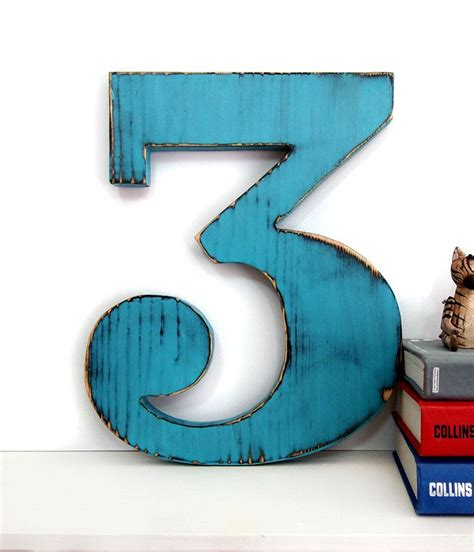 Shop the biggest selection of wall décor at the best prices from at home. Number 3.   Wooden numbers, Wall signs, Letters and numbers