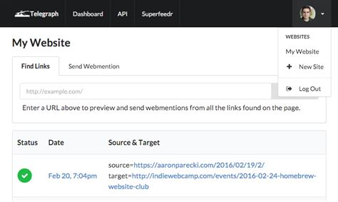 Enabling Global Webmentions With Telegraph Superfeedr