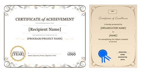 Ms Publisher Certificate Templates by Certificate Of Achievement Template Publisher Images