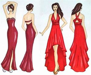 Prom Dress Sketchesillustrations My Artwork