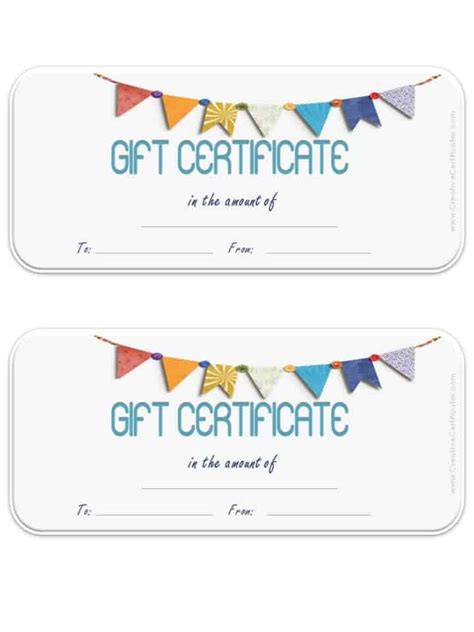gift certificate template customizable