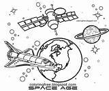 Skylab Spaceman sketch template