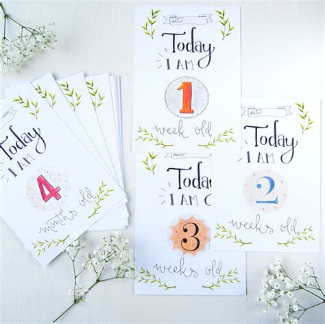 Get the best deals on baby milestone card. baby 1st year milestone cards by maggie's needle   notonthehighstreet.com