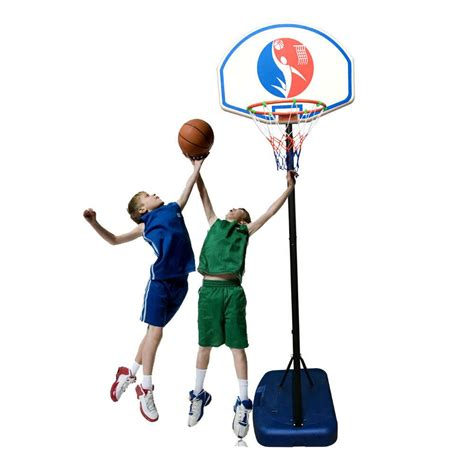 ft adjustable basketball hoop system stand outdoor net